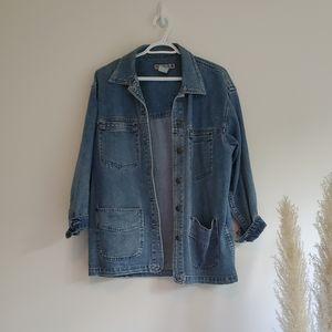 MANGO Oversized Denim Jacket Size Medium.